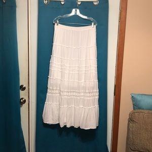 Style & Co. White Maxi Skirt